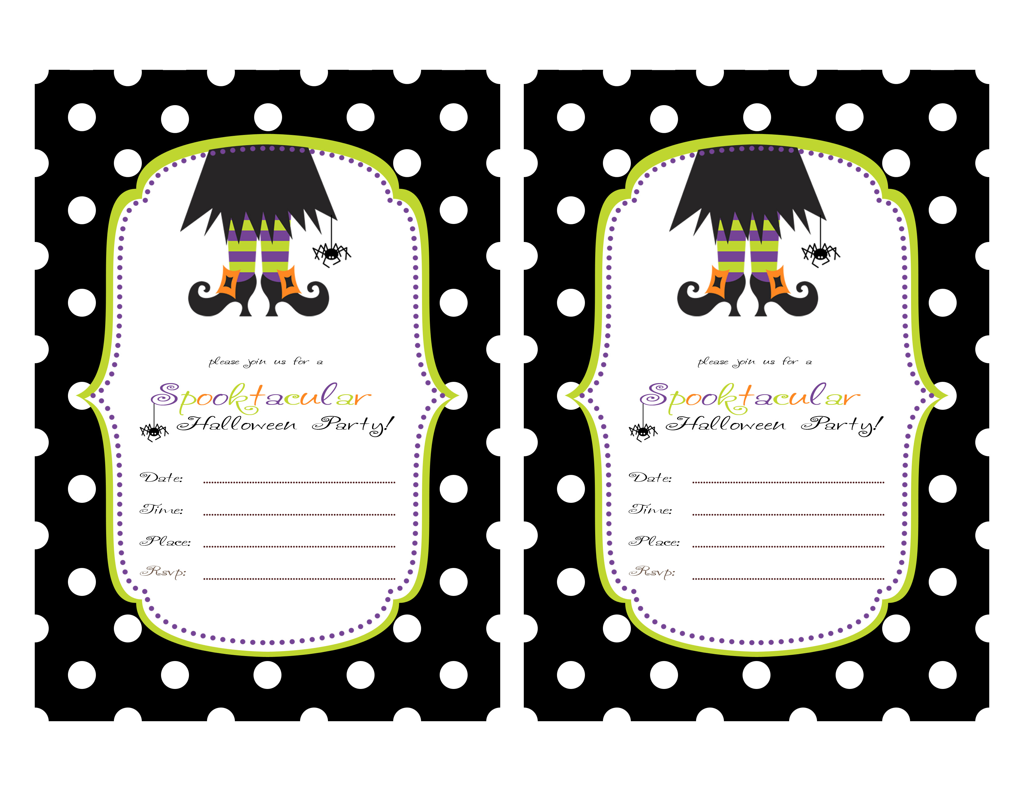 Printable Halloween Party Invitations For Kids 844 Kids Birthday - Free Printable Halloween Party Invitations