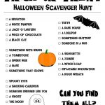 Printable Halloween Scavenger Hunt | The Dramatics | Halloween   Free Printable Halloween Scavenger Hunt