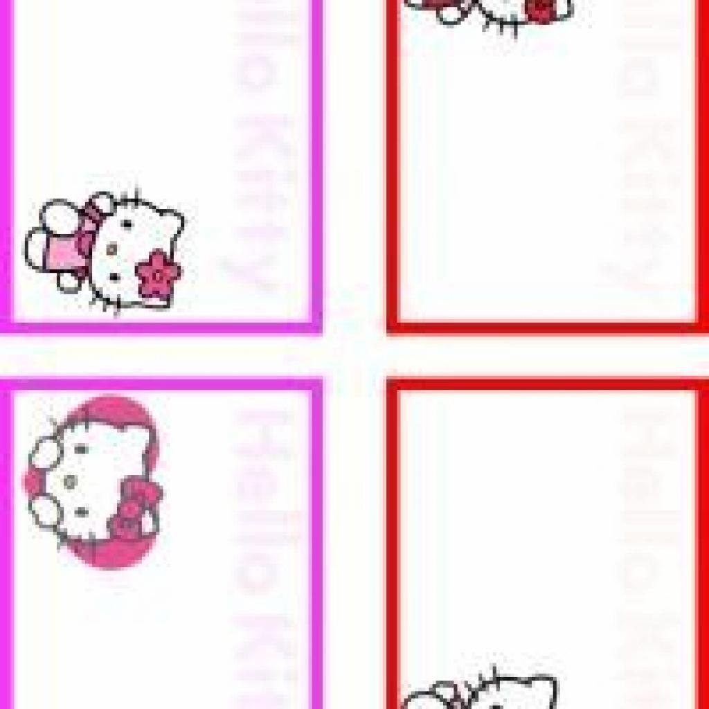 Printable Hello Kitty Four Styles Name Tags - Printable Name Tags - Hello Kitty Name Tags Printable Free