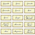Printable: Herb Garden Labels Printable – Herb Labels Printable   Free Printable Herb Labels