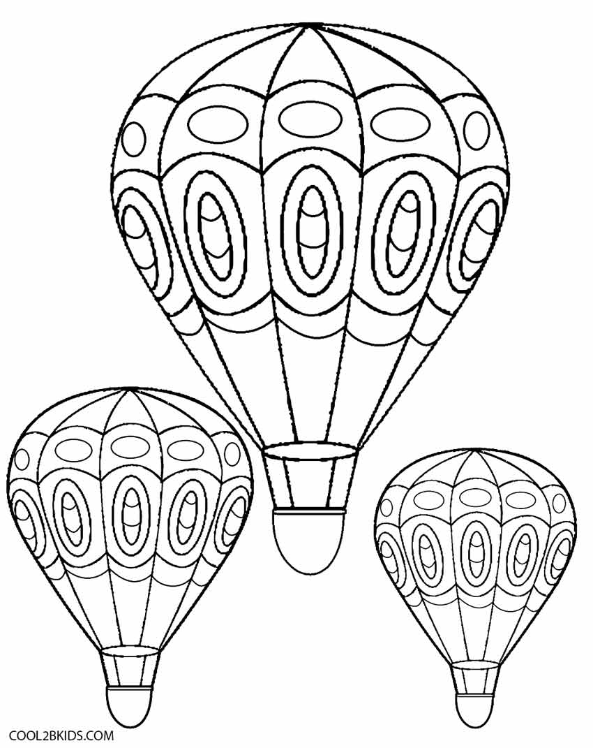 Printable Hot Air Balloon Coloring Pages For Kids   Cool2Bkids - Free Printable Pictures Of Balloons