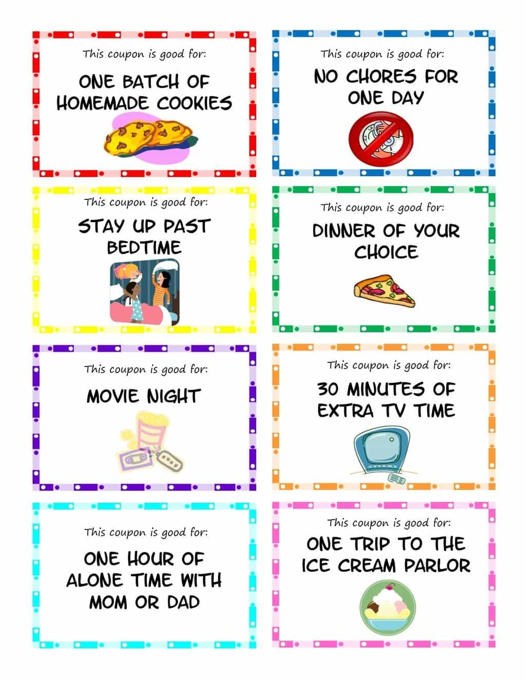 Printable Kid Coupons - Free Printable Homemade Coupon Book