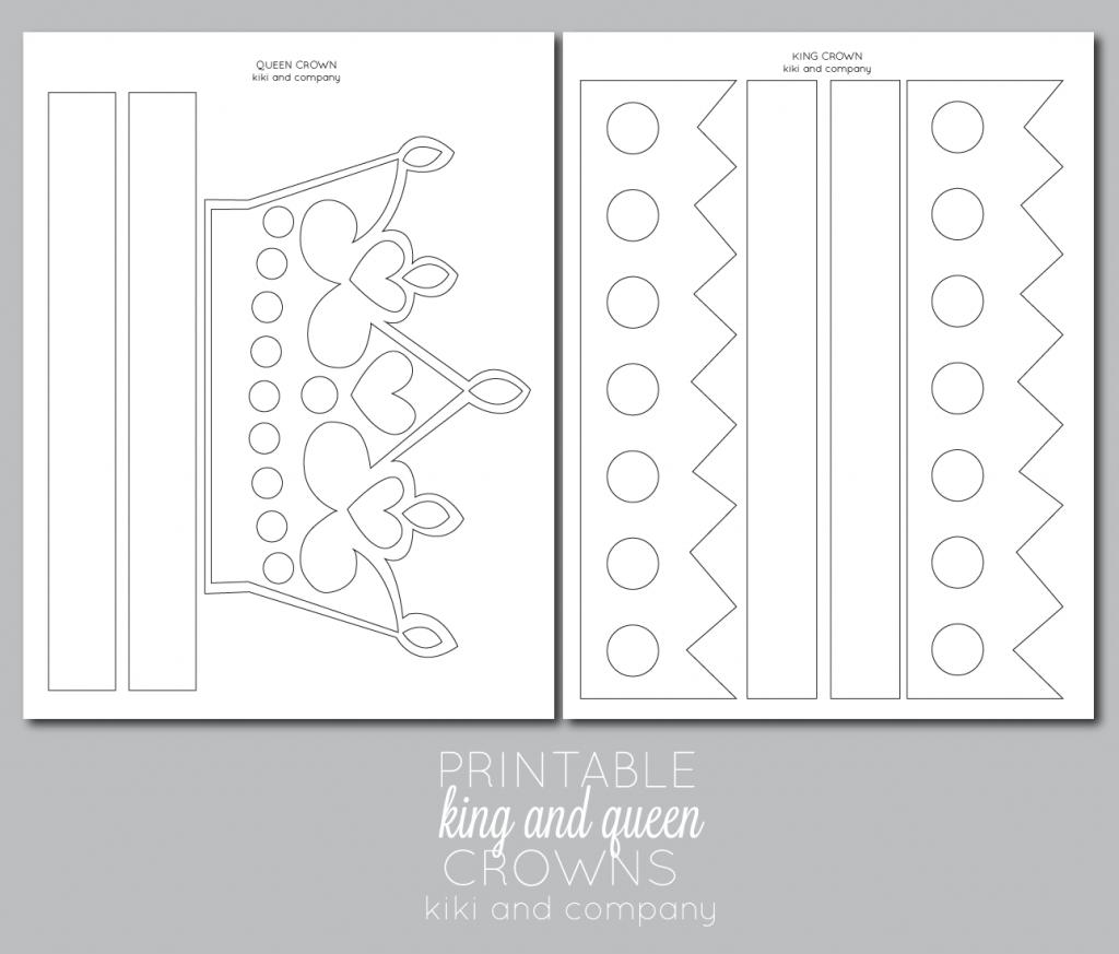 Printable Kings And Queens Crown {Free Printable} - The Crafting Chicks - Free Printable Crown