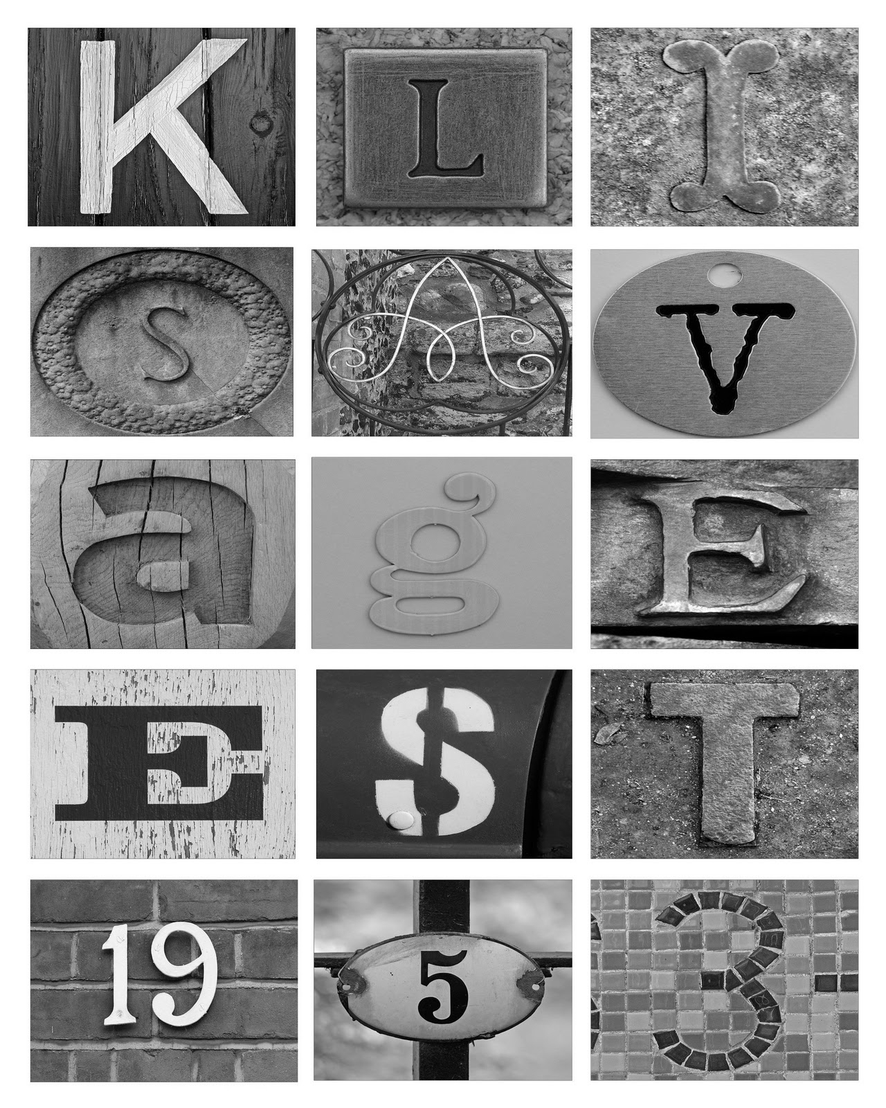 Printable Letter Art Free | Download Them Or Print - Free Printable Photo Letter Art