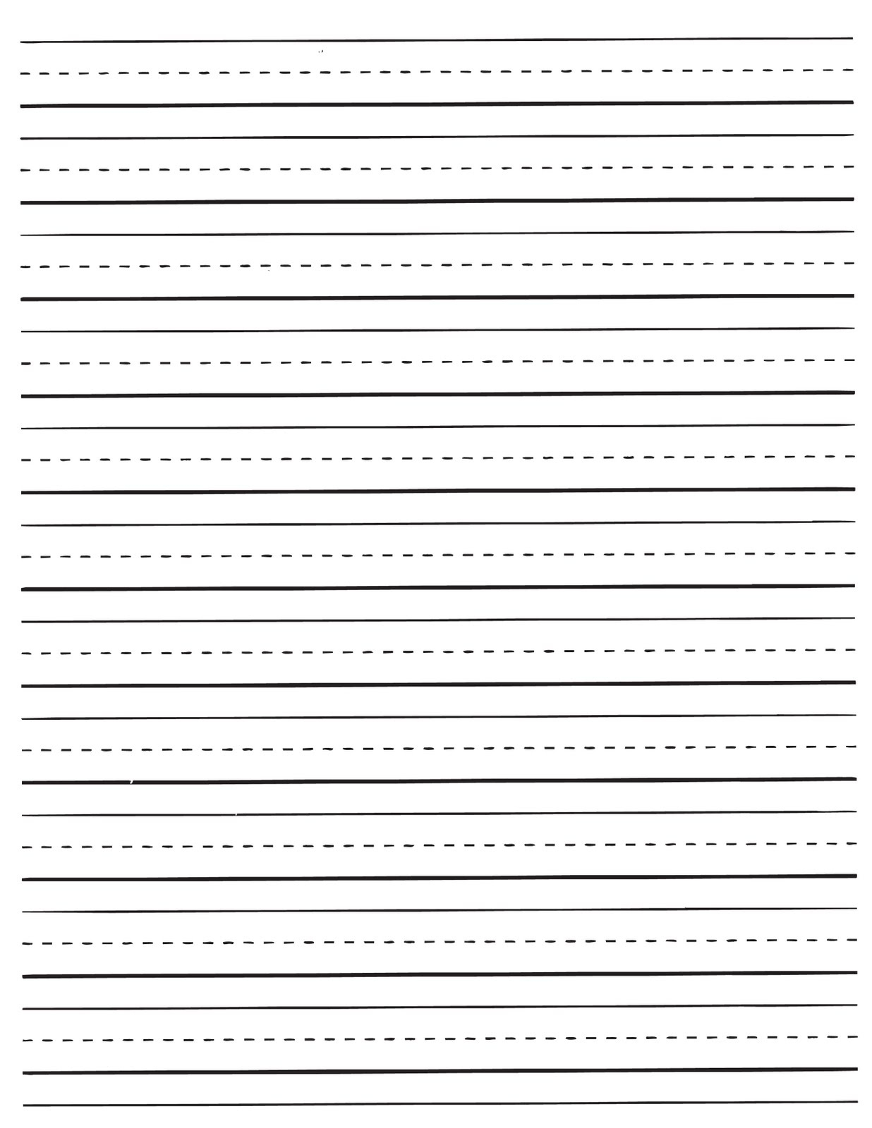 Printable Lined Paper For Kids | World Of Label - Free Printable Kindergarten Lined Paper Template