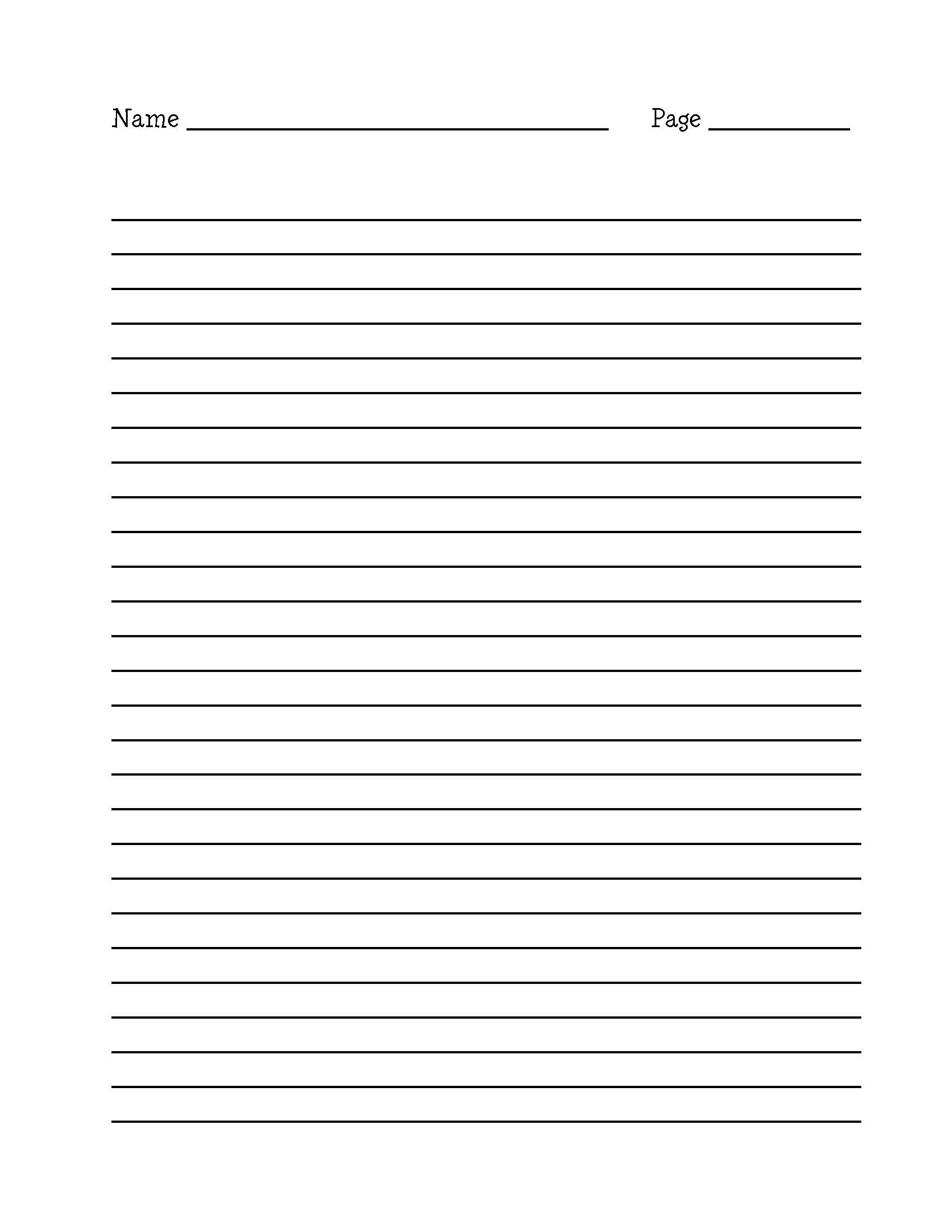 Printable Lined Writing Paper Pdf   Corner Of Chart And Menu - Free Printable Lined Writing Paper