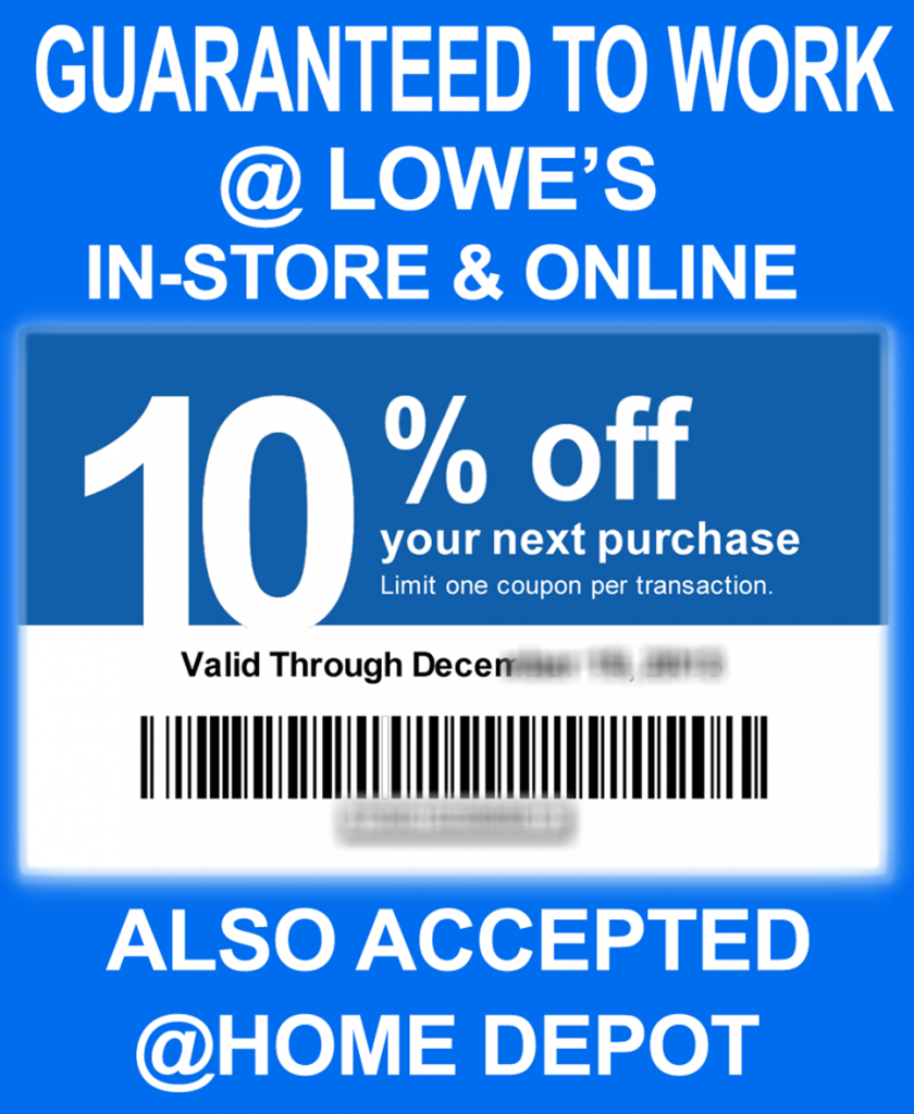 Printable Lowes Coupon 20% Off &10 Off Codes December 2016 Regarding - Lowes Coupon Printable Free