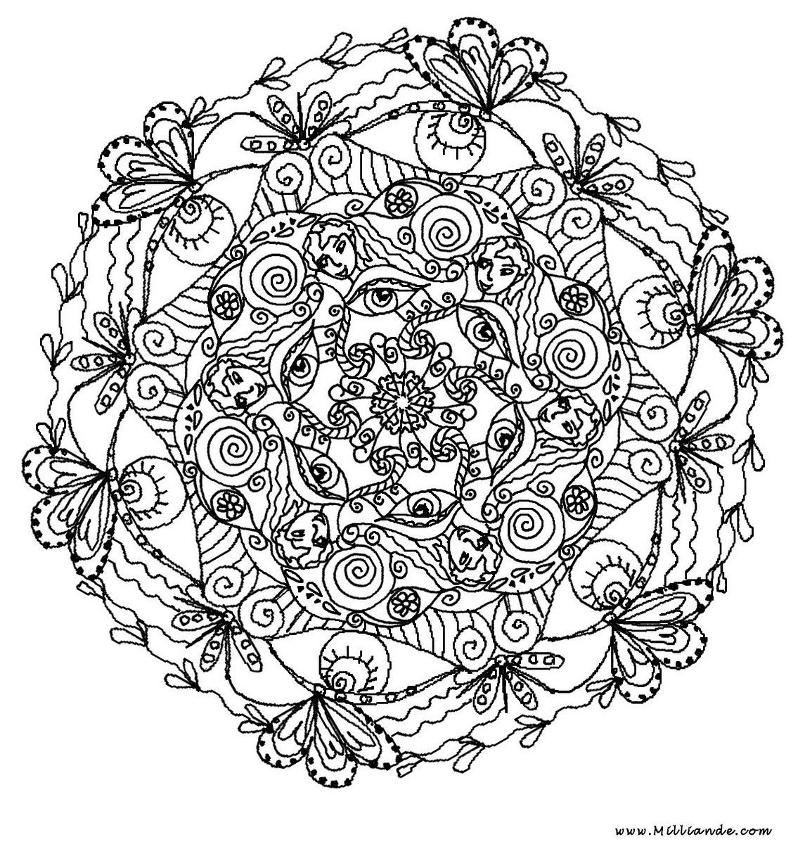 Printable Mandala Coloring Pages Adults Tagged With Advanced Mandala - Free Printable Mandala Coloring Pages For Adults