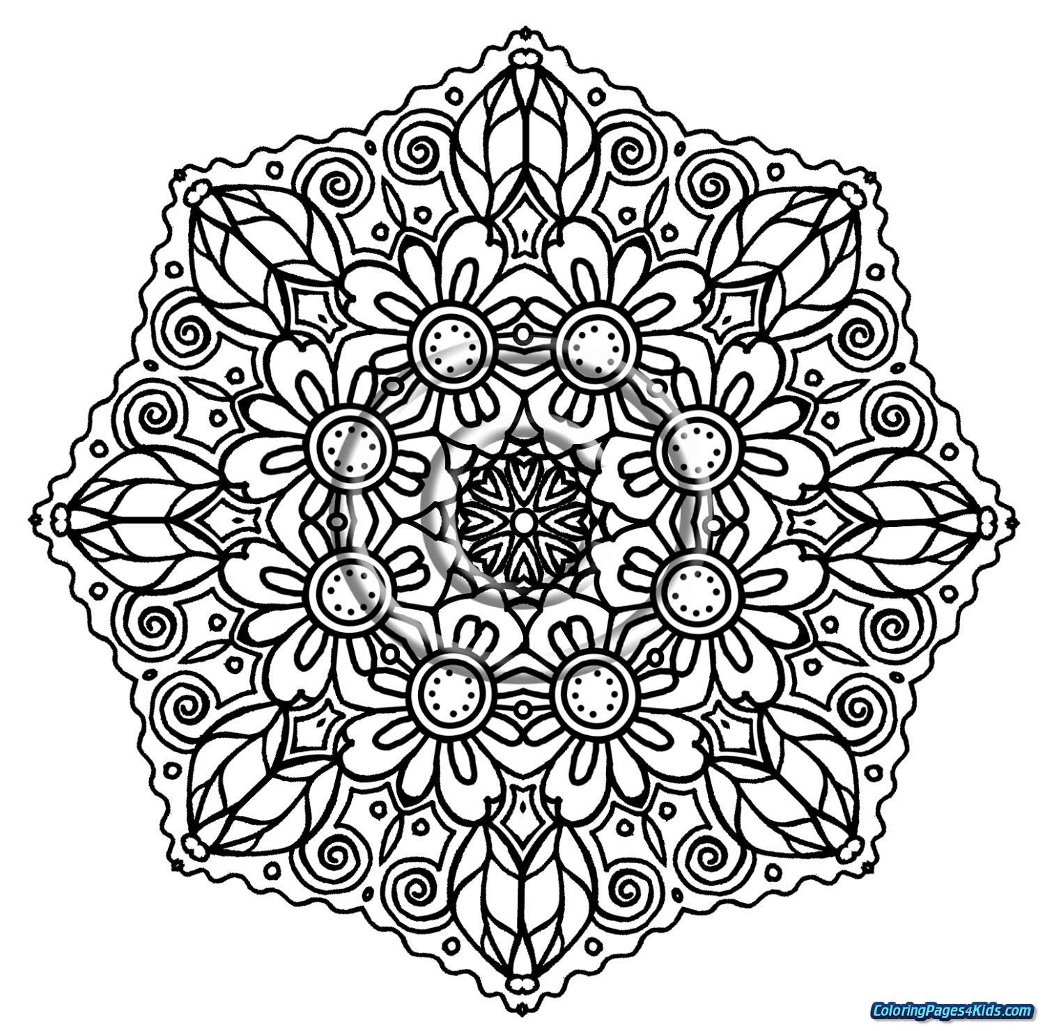 Printable Mandala Coloring Pages - Lezincnyc - Free Printable Mandala Coloring Pages