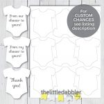Printable Mini Onesie Baby Shower Favor Tags From Our | Etsy   Free Printable Onesie Pattern