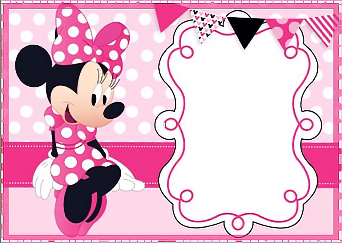 Printable Minnie Mouse Birthday Party Invitation Template - Free - Free Printable Minnie Mouse Invitations