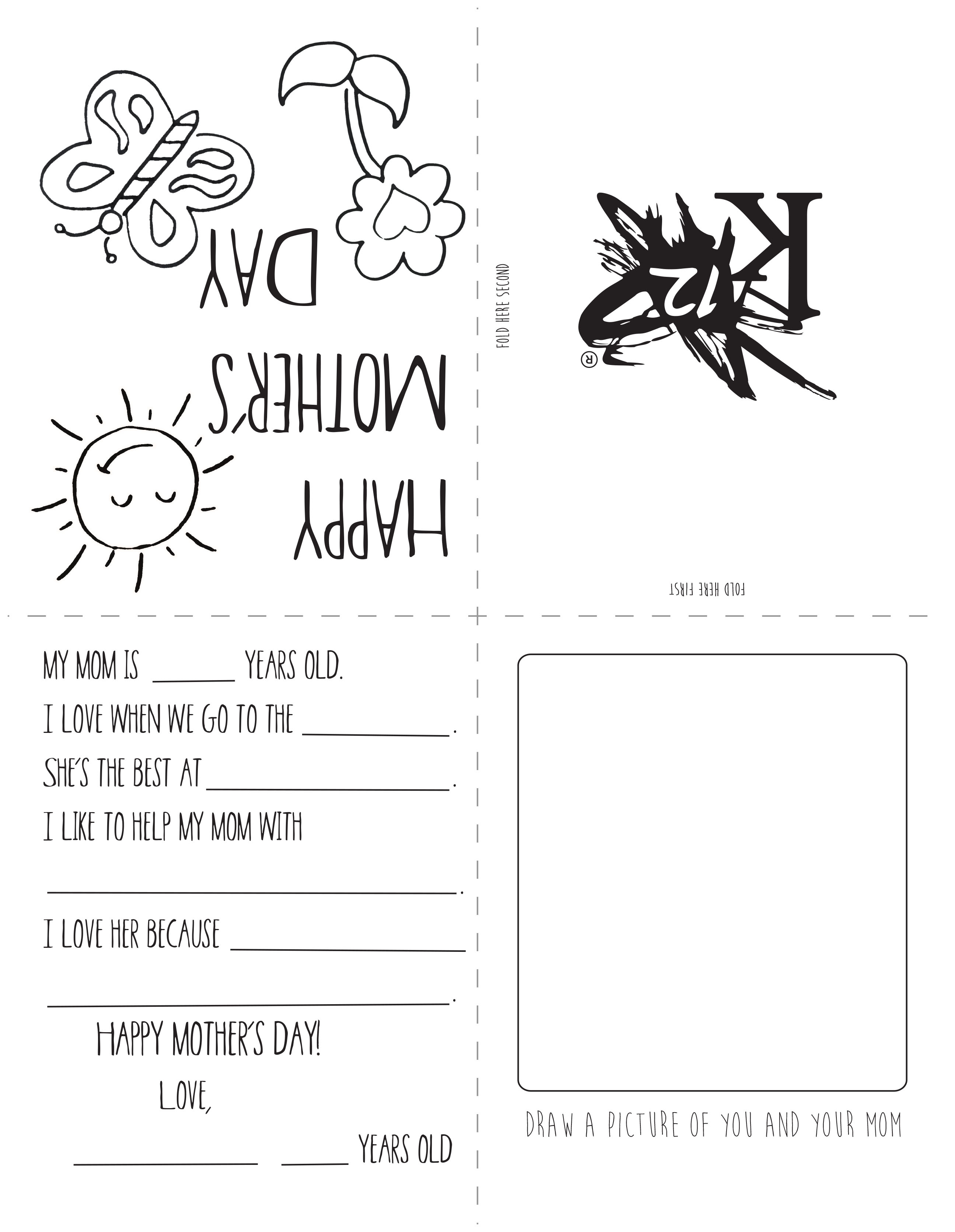 Printable Mother's Day Card - Learning Liftoff - Free Printable Mothers Day Cards No Download