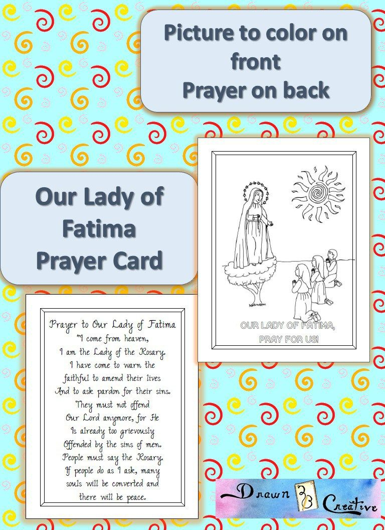 Printable Our Lady Of Fatima Prayer Cards | Catholic Printables - Free Printable Prayer Cards