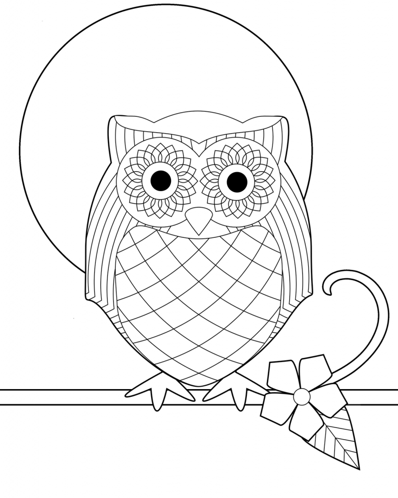 Printable Owl Coloring Pages Free For Kids 819×1024 Attachment - Free Printable Owl Coloring Sheets