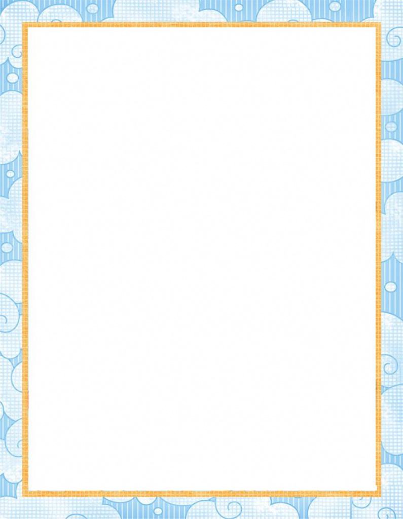 Printable Paper With Baby Borders | Free Printable Baby Stationery - Free Printable Baby Borders For Paper