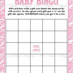 Printable Pink Damask Baby Shower Bingo Game Instant Download | Bee   Free Printable Baby Shower Bingo Cards