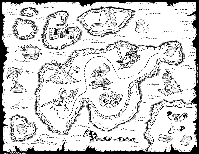 Printable Pirate Map 11 #4490 - Free Printable Pirate Maps