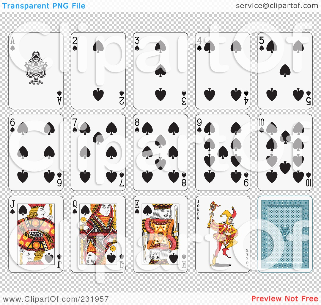 Printable Playing Cards Clipart - Free Printable Deck Of Cards