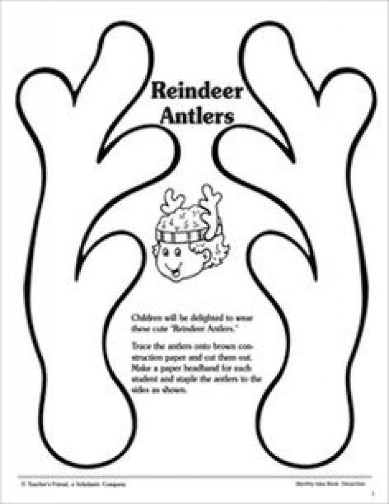 Printable Reindeer Antlers Pattern. Use The Pattern For Crafts - Reindeer Antlers Template Free Printable