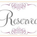 Printable Reservation Signs   1.17.internist Dr Horn.de •   Free Printable Reserved Table Signs