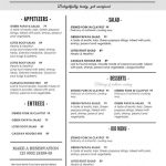 Printable Restaurant Menu Template | Hgvi.tk   Free Printable Restaurant Menu Templates