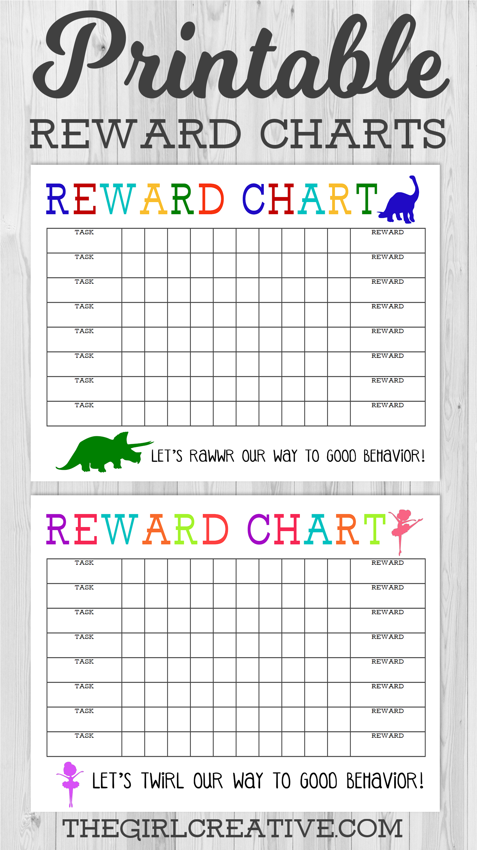 Printable Reward Chart - The Girl Creative - Free Printable Incentive Charts For Students