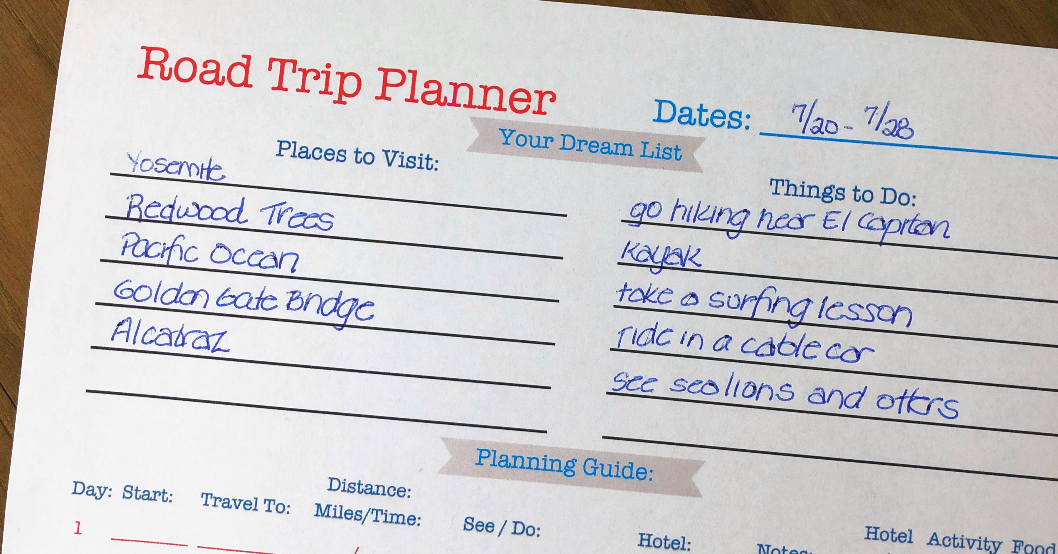 Printable Road Trip Planner! - Momof6 - Free Printable Road Trip Planner