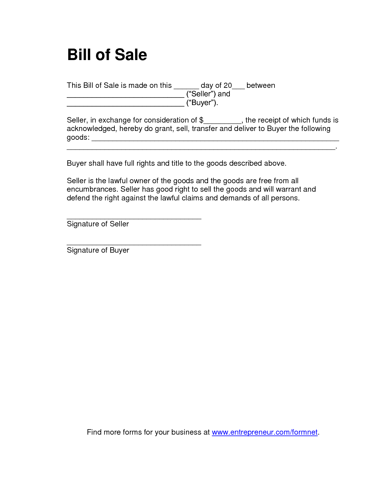 Printable Sample Tractor Bill Of Sale Form   Laywers Template Forms - Find Free Printable Forms Online