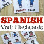 Printable Spanish Flashcards: Spanish Verb Flashcards   Free Printable Spanish Verb Flashcards