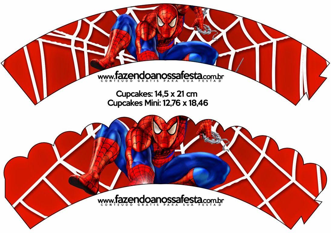 Printable Spiderman Cupcake Wrappers | Free Printable Cupcake - Free Printable Spiderman Pictures