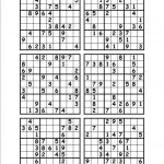 Printable Sudoku Puzzles 6 Per Page | Download Them Or Print   Free Printable Sudoku 6 Per Page