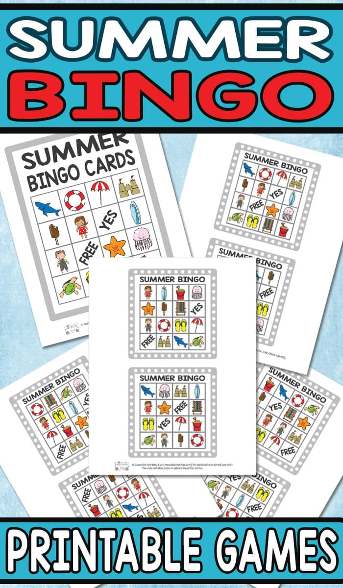 Printable Summer Bingo Game For Kids - Itsy Bitsy Fun - Free Printable Summer Games
