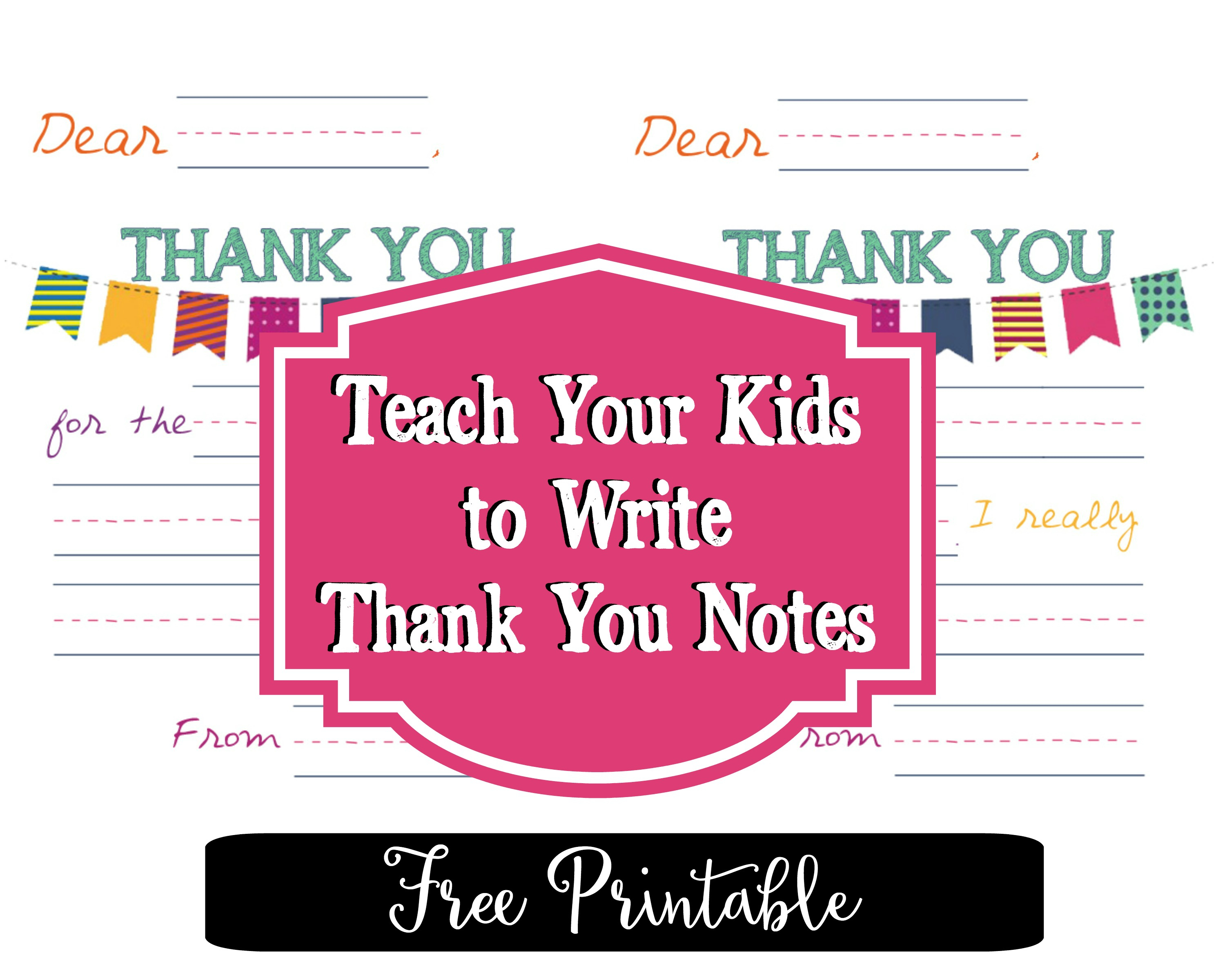 Printable Thank You Notes That Will Make Your Kids Feel Like Rockstars - Free Printable Thank You