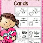 Printable Valentine's Day Cards   Mamas Learning Corner   Free Printable Childrens Valentines Day Cards