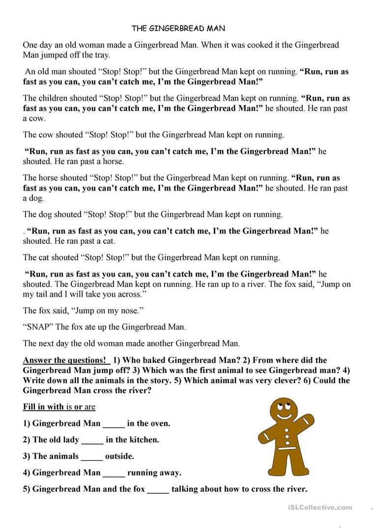 Printable Version Of The Gingerbread Man Story   Download Them Or Print - Free Printable Version Of The Gingerbread Man Story