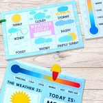 Printable Weather Charts   Perfect For Having The Kids Mark The   Free Printable Weather Chart For Preschool