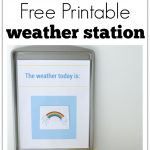 Printable Weather Station For Preschool   No Time For Flash Cards   Free Printable Weather Chart For Preschool