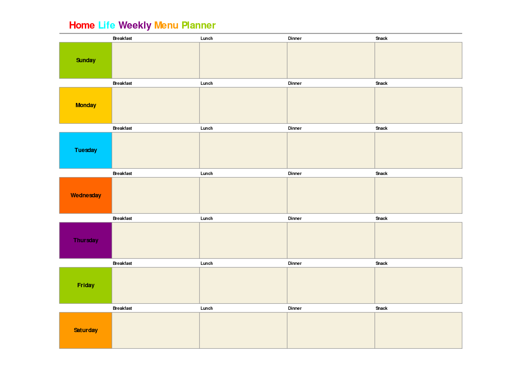 Printable Weekly Dinner Menu Planner Template | Meal Planning - Free Printable Weekly Dinner Menu Planner