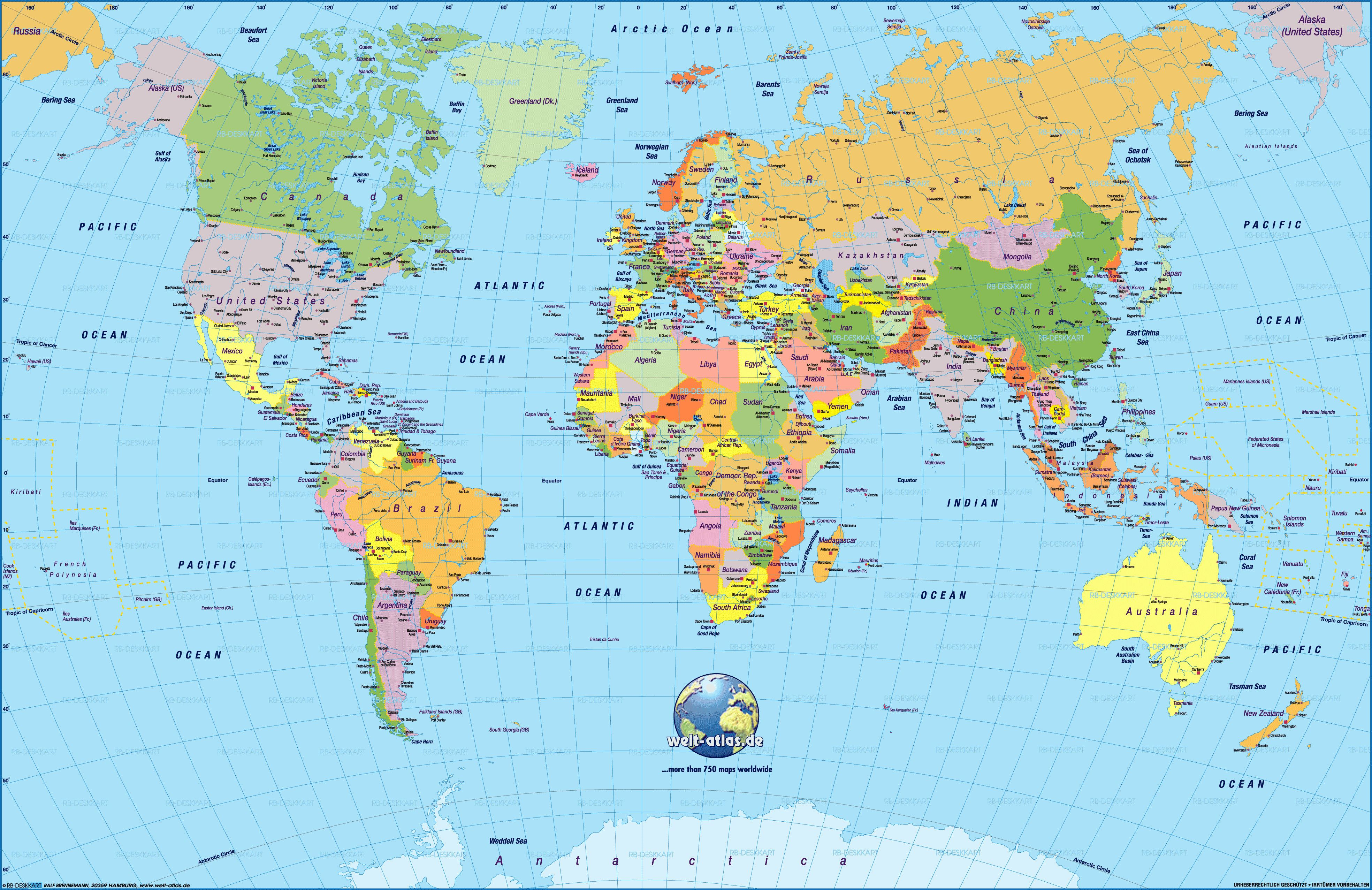 Printable World Map 2018 - 16.mackenzieinteriors.co • - Free Printable World Map