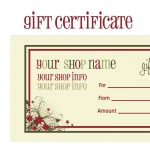 Printable+Christmas+Gift+Certificate+Template | Massage Certificate   Free Printable Gift Coupons