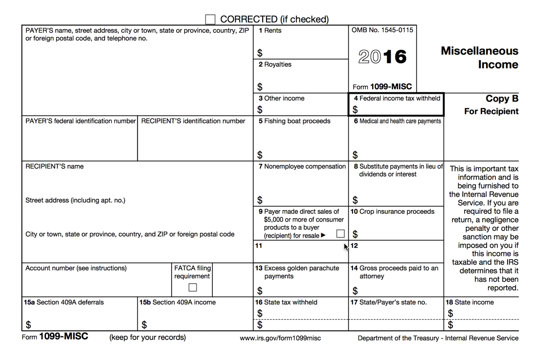 Process 1099-Misc Forms – Buildium Help Center - Free Printable 1099 Misc Form 2013