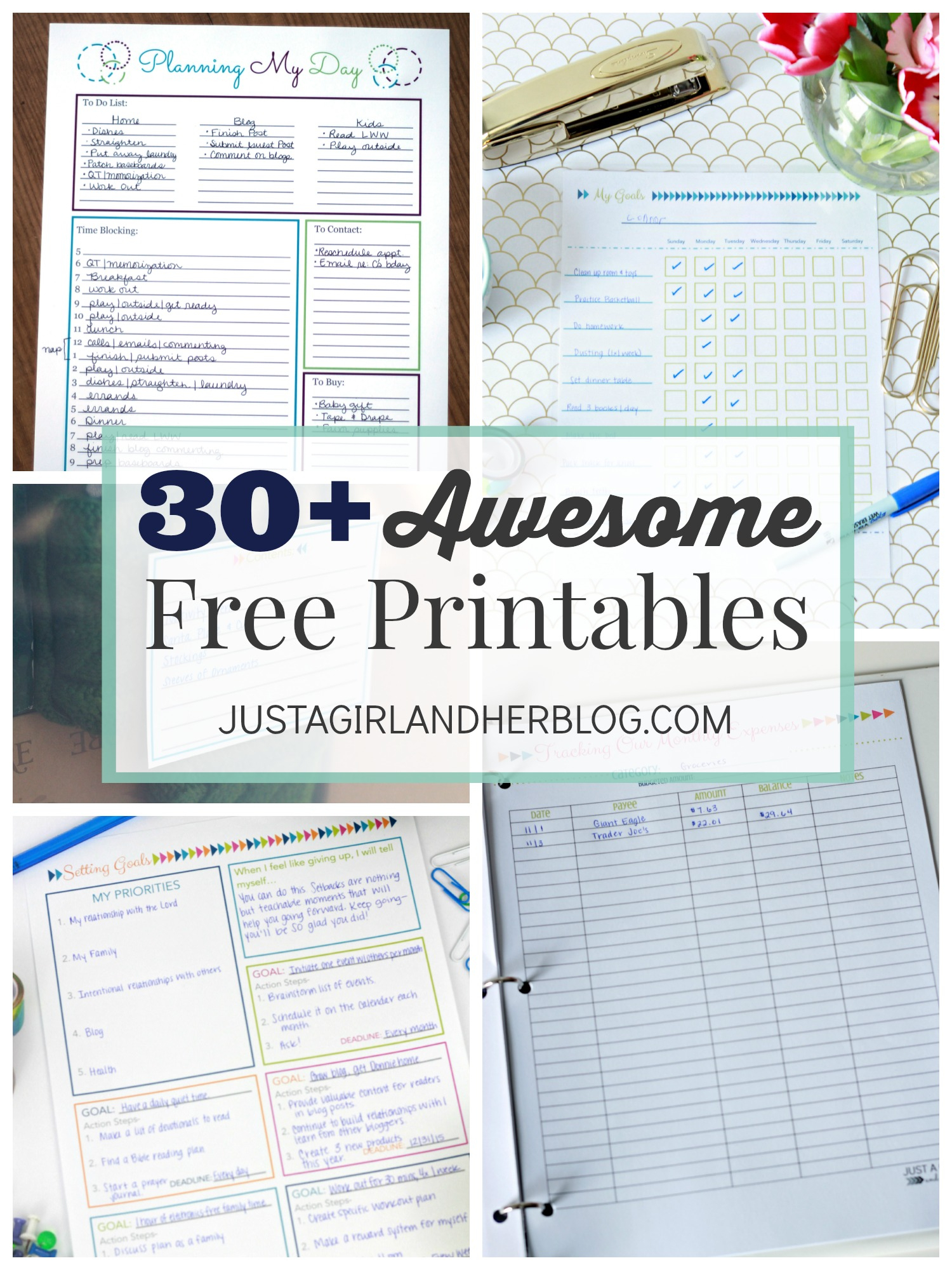 Project Gallery- Free Printables - Just A Girl And Her Blog - Free Printable Household Binder