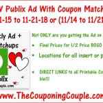 Publix Coupon Matchups For 11 15 To 11 21 18 Or (11/14 To 11/21   Free Printable Chinet Coupons