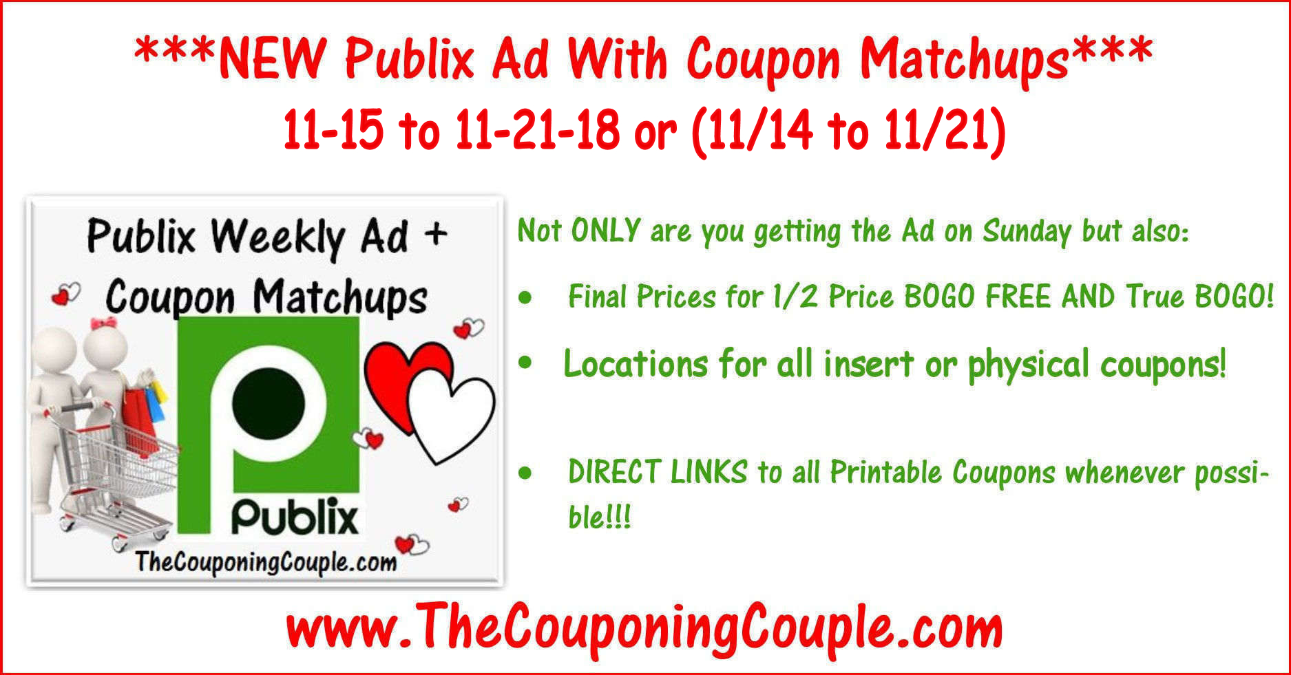 Publix Coupon Matchups For 11-15 To 11-21-18 Or (11/14 To 11/21 - Free Printable Chinet Coupons