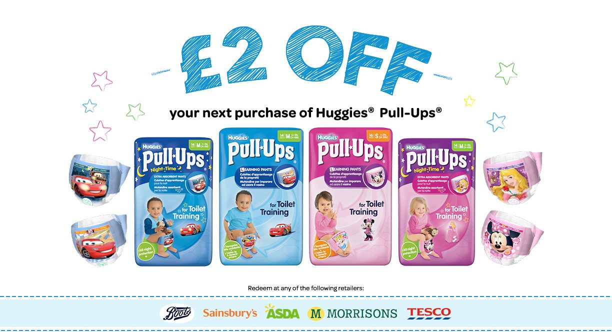 Pull-Ups Coupon 2 Pounds Money Off Supermarkets   Uk Coupons - Free Printable Coupons For Huggies Pull Ups
