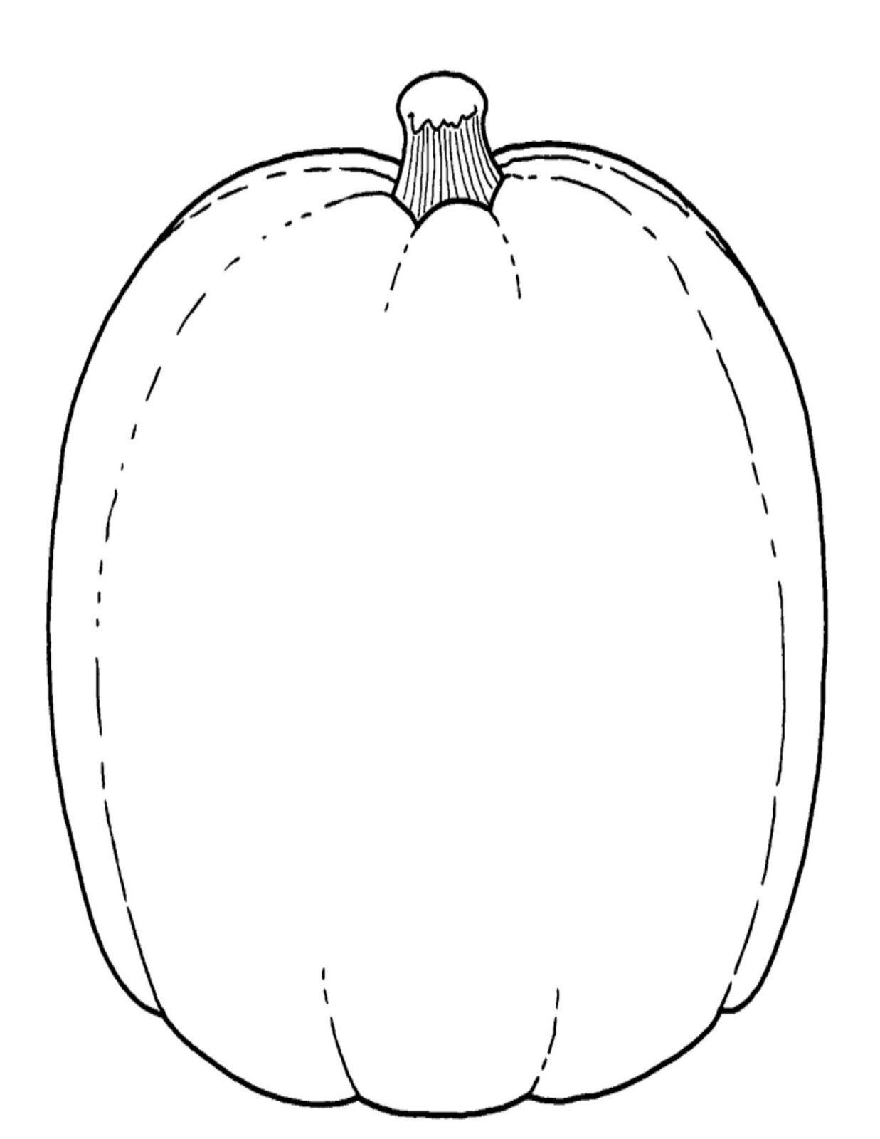 Pumpkin Shape Template | Cyberuse - Pumpkin Shape Template Printable Free