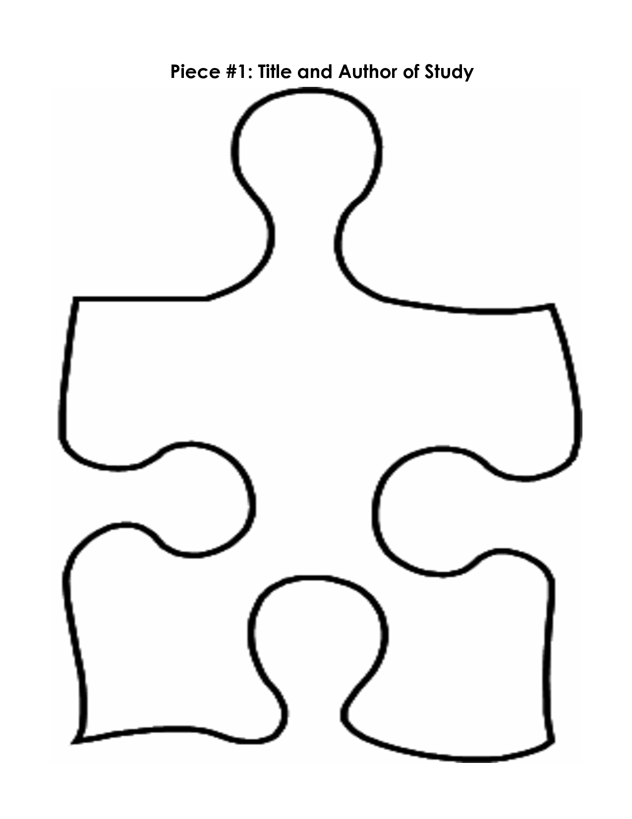 Puzzle Piece Mystery Book Template Pp   Printables   Pinterest - Free Blank Printable Puzzle Pieces