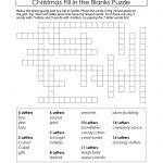 Puzzles To Print. Free Xmas Theme Fill In The Blanks Puzzle   Free Printable Fill In Puzzles