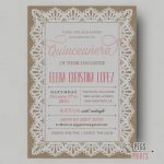 Quinceanera Invitation Templates Free Printable Quinceanera Within   Free Printable Quinceanera Invitations