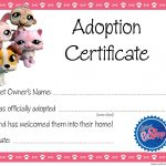 Quirky Artist Loft: Littlest Pet Shop Party   Free Adoption   Free Printable Stuffed Animal Adoption Certificate